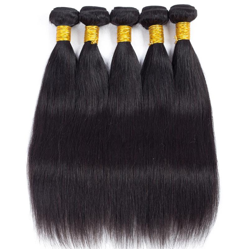 Son çıkan Satış Karışık Uzunluk Brezilyalı Bakire Saç Düz Paketler Remy İnsan Saç Dokuma Paketler En Kaliteli Yumuşak Düz Saç Uzantıları