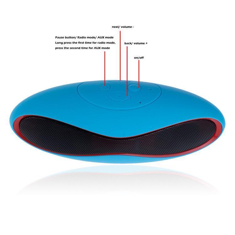 Mini X6 Rugby Portable Wireless Bluetooth Speaker Mini-X6 Stereo Speakers X6U Hands-free V3.0 Audio MP3 Player Subwoofer With U Disk TF Card