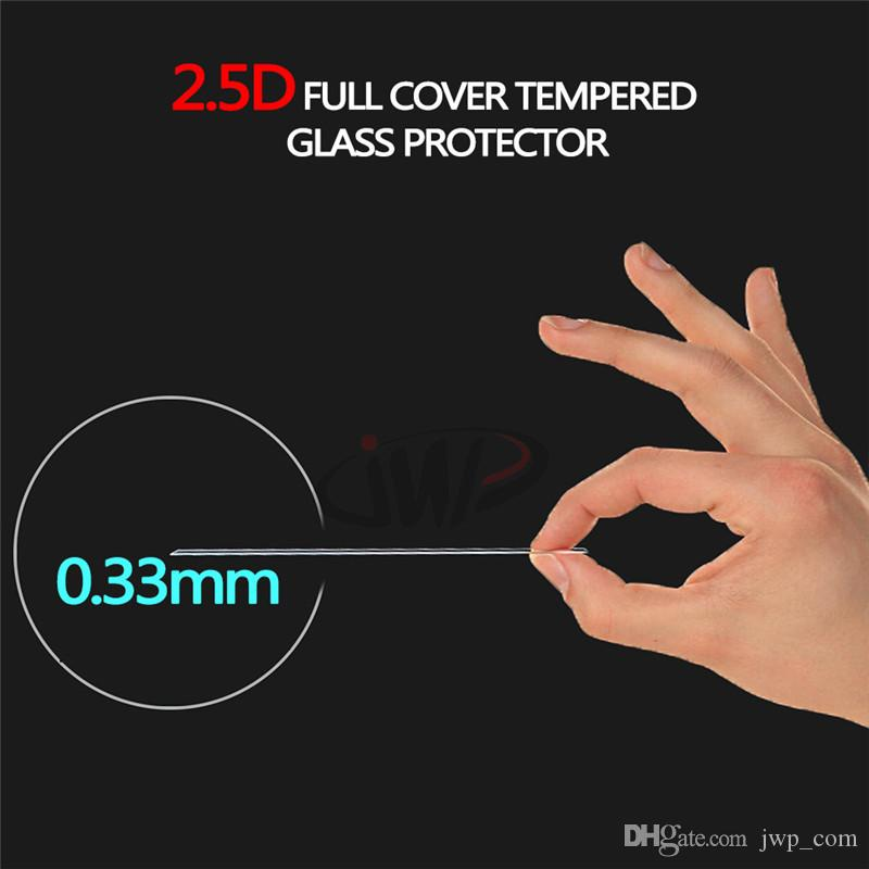 2.5D Full Cover Tempered Glass Protector for LG G6 K42017 Premium 0.33MM 9H Flim with Retail Package