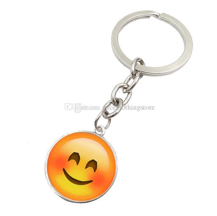 Porte-clés Fashion Smiley Face Emoji Emotion Porte-clés pour cadeau de Noël Garçons et Filles Livraison gratuite