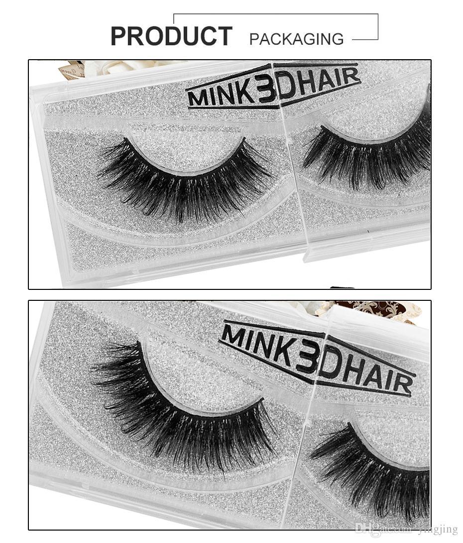 1 Mature Dame Mesdames Maquillage Faux Cils 3D Mink Cils Long Noir Nautral Maquillage À La Main Beauté Outils