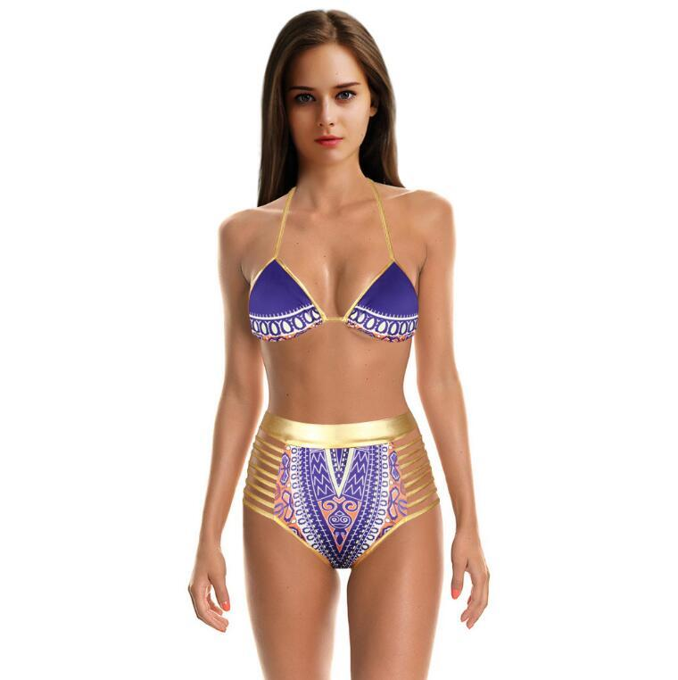 Wholesale 2017 Sexy Bikinis Women Swimwear Tight Bandage Sling Halter Swimsuit Hollow Triangle Bikini Sets For Women