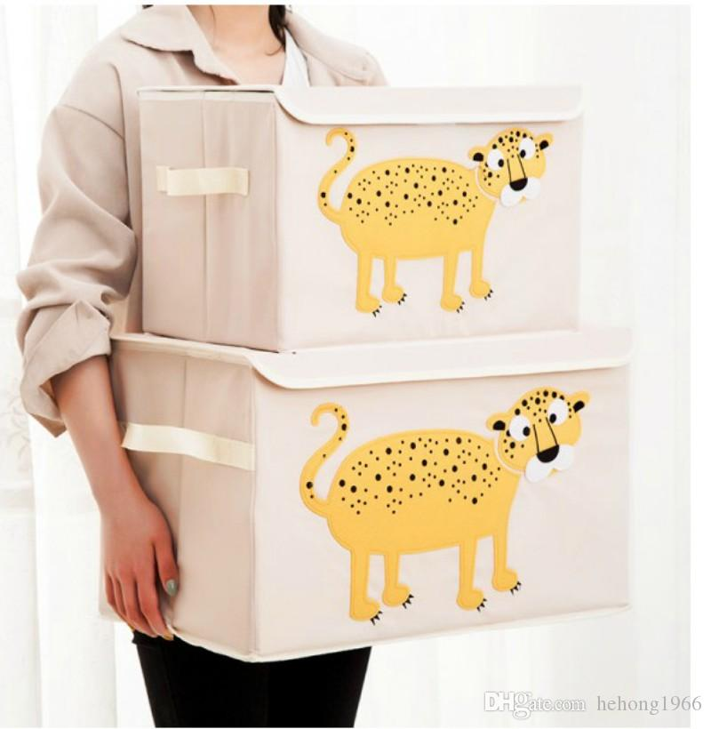 Cloth Incorporated Box Cartoon Fold Storage Square Big Boxes Various Styles Household Useful Non Occupying Space Multicolor Select 18pj I1 R