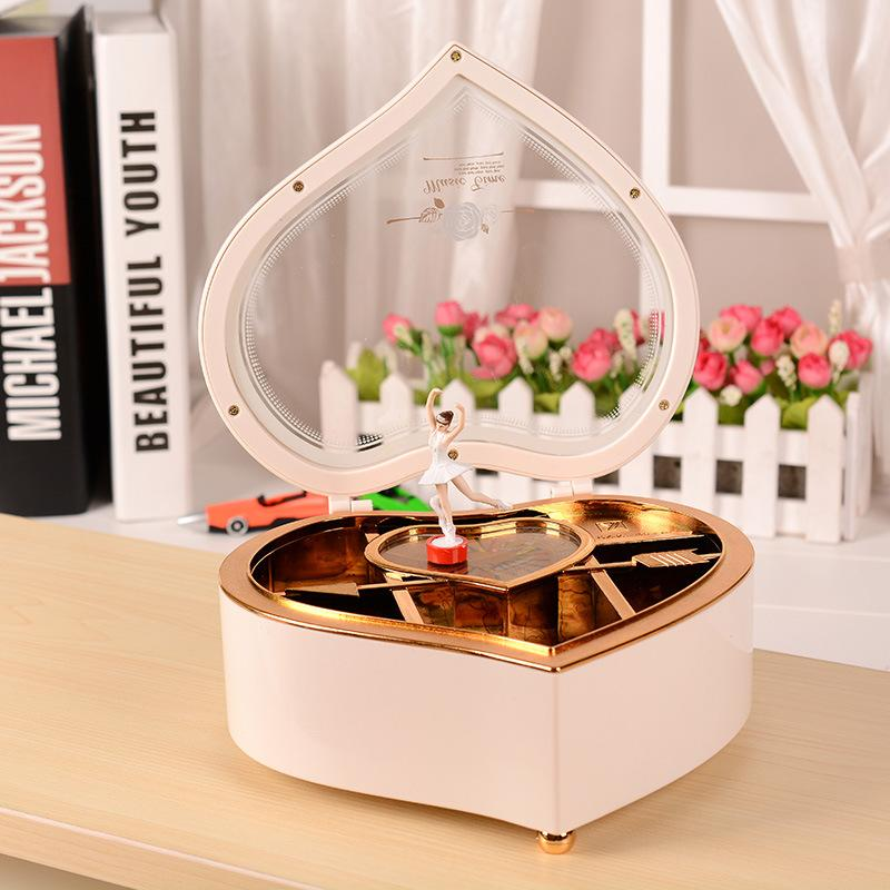 Heart dance music box music box rotating romantic fashion creative birthday gift