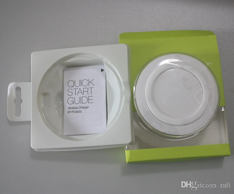Prezzo all'ingrosso Caricatore wireless universale Qi ricarica veloce Samsung Galaxy Note S6 s7 Bordo pad mobile con logo con pacchetto di vendita
