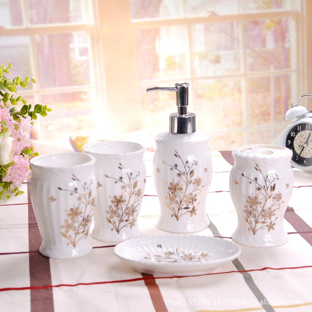 Best Bathroom Set Ceramic Bathroom Set Lotion Bottle Toothbrush Cup ...