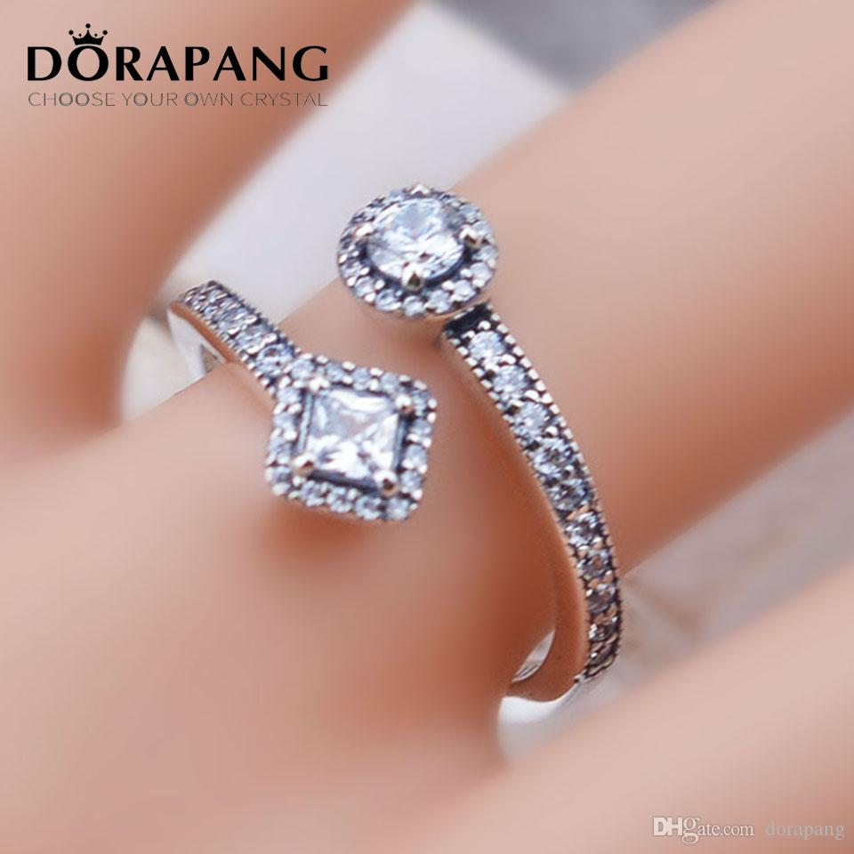 29b4663c1 2019 DORAPANG 100% 925 Sterling Silver Ring For European Thread Bracelet  New Letter Open Adjust Rings Fashion Women Gift Jewelry JZ008 From  Dorapang, ...