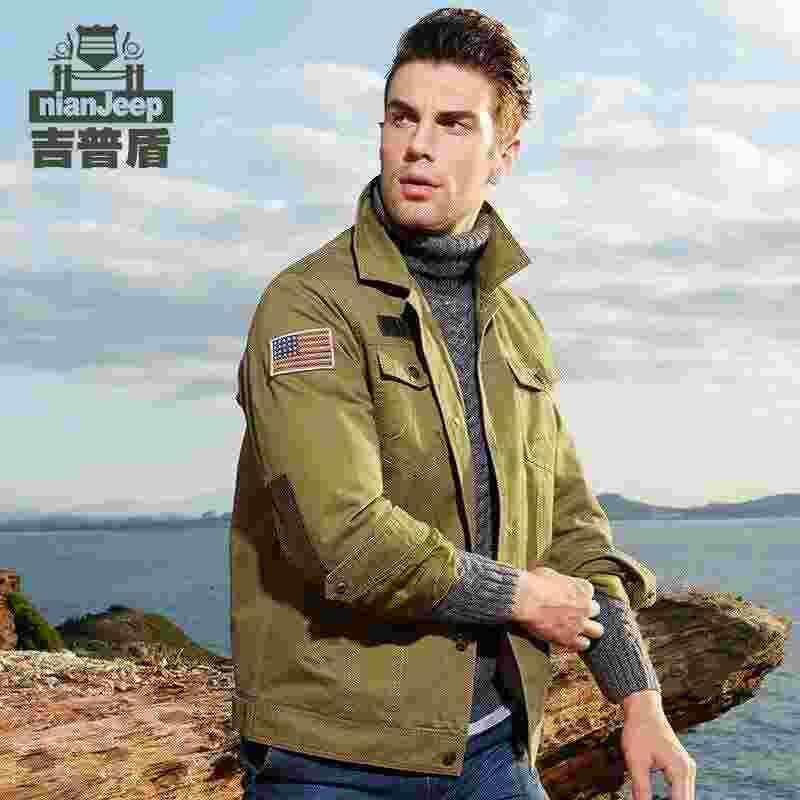 4f86db58f NIAN JEEP Jacket Men Bomber Jacket Men Military Army Flying Leisure Bomber  Jacket Windbreaker Multi-pocket Veste Homme man clothing