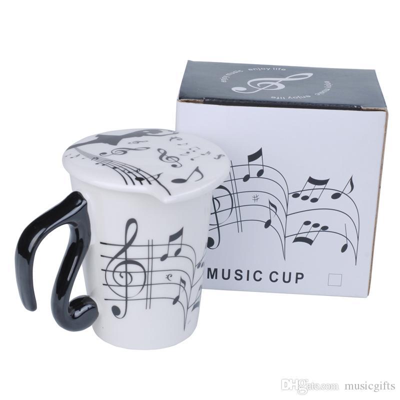 Mugs Tea Cups Lid Note Coffee With Mug Travel Musical Ceramic Yb7fy6g