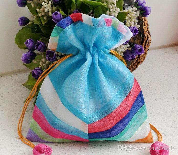 FreeShip 20 stücke 16 * 20 cm 20 * 25 cm 24 * 35 cm handgemachte hochwertige Joint Splicing Tuch Tasche Schmuck Taschen Candy Perlen Hochzeit Weihnachtsgeschenk tasche
