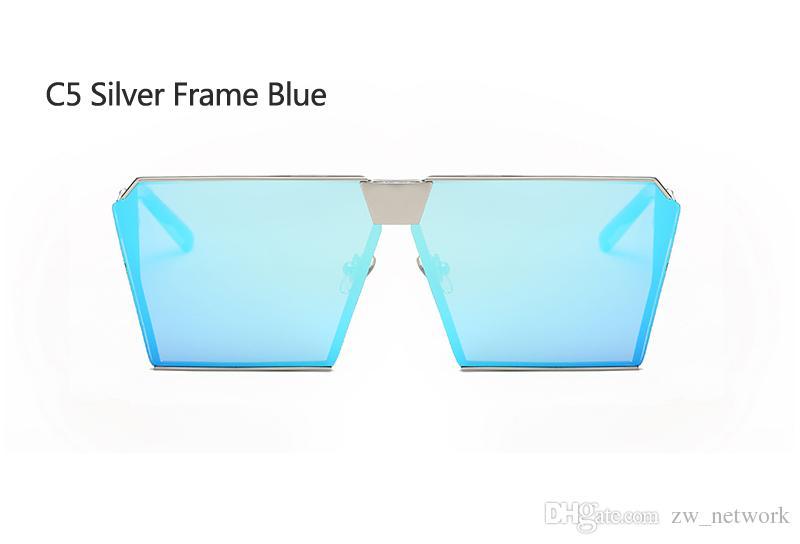 5 adet Yeni Güneş Gözlüğü Kadın Erkek Boy Kare Gözlük UV400 Tasarımcı Gözlük Çerçeveleri Çerçevesiz Cam 77