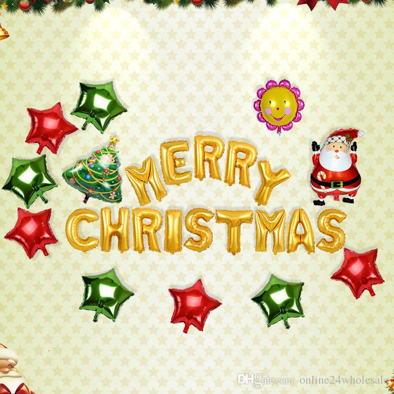Großhandel 16inch Frohe Weihnachten Briefe Ballons Weihnachten ...