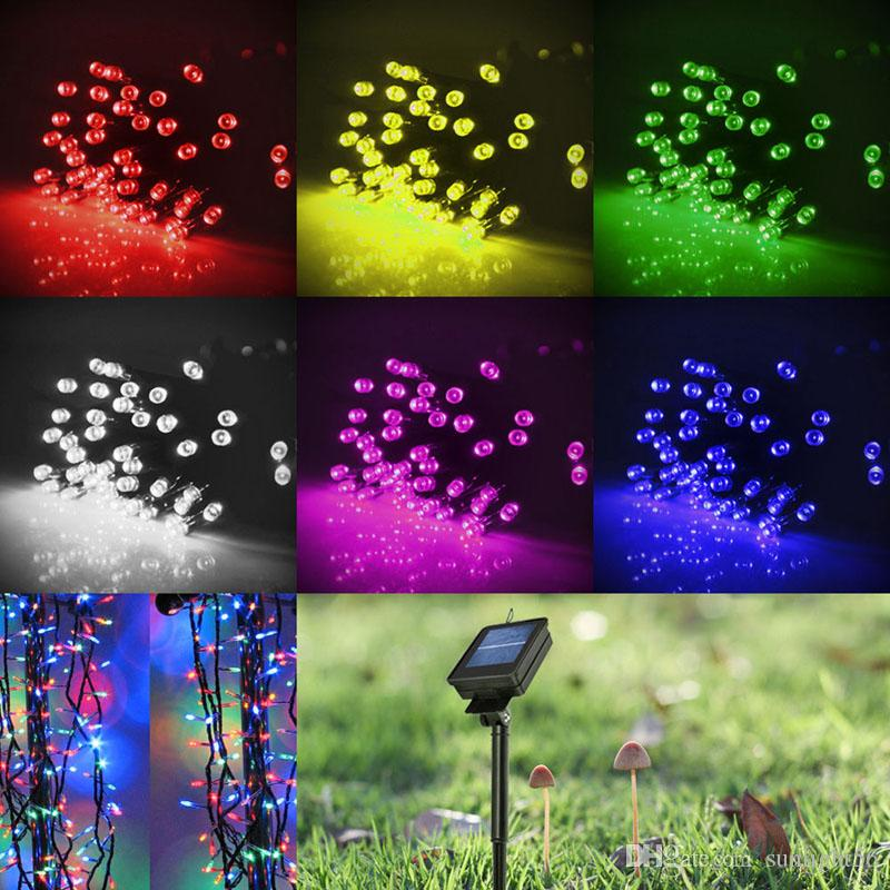 100 LED 200 LED Outdoor 8 modalità Solar Powered String Light Garden Christmas Party Fata Lampada 10M 22M