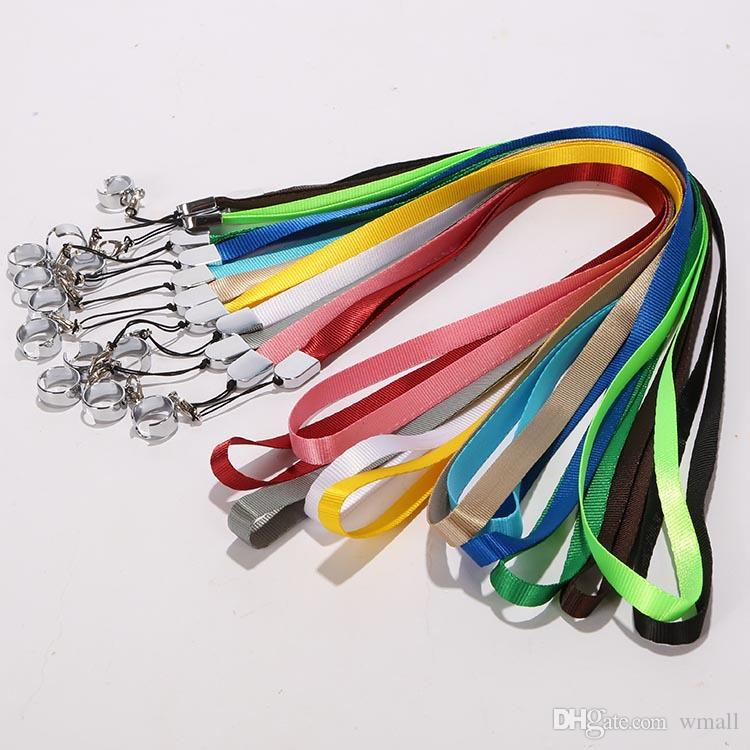 Lanyard Necklace String Neck Chain Sling w/ Clip Ring for Ego Series ego-t ego-c ego-w Electronic Cigarette E-Cigarette E Cig free DHL