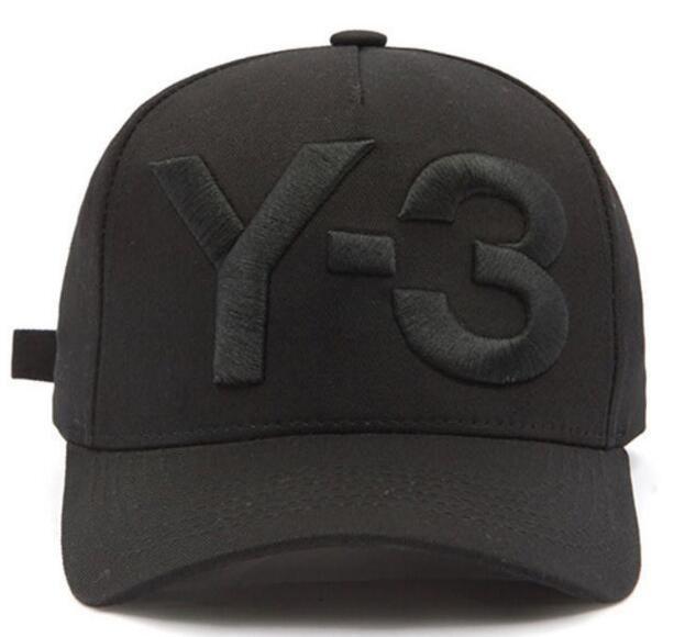 46548b44 2017 New Y 3 Dad Hat Big Bold Embroidered Logo Baseball Caps Adjustable  Strapback Hats Y3 Bone Snapback Sports Casquette Visor Gorras Cap Skull Caps  Men ...