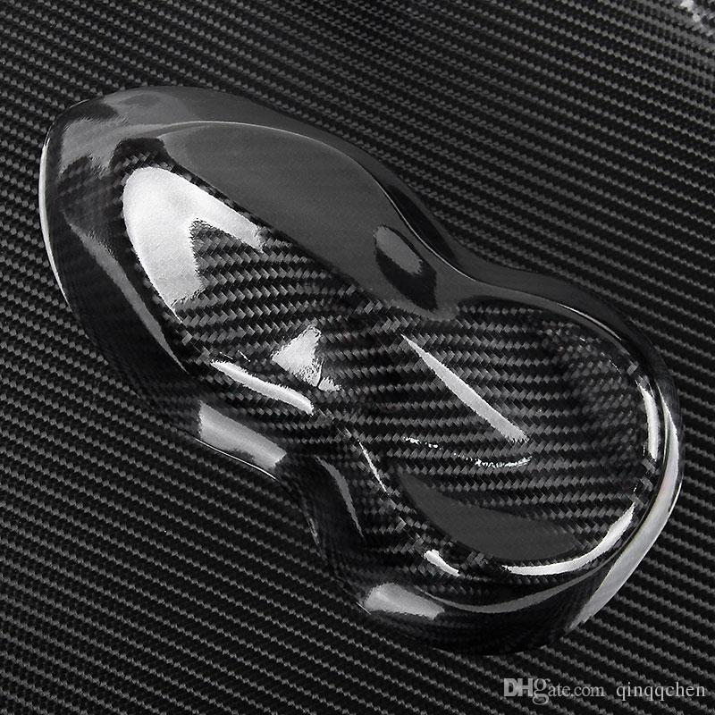 5D De Fibra De Carbono Envoltório de Vinil Filme Etiqueta Do Carro Brilhante motocicleta caminhão heet Envoltório Rolo À Prova D 'Água Auto Decoração Acessórios Preto 50 * 200 cm