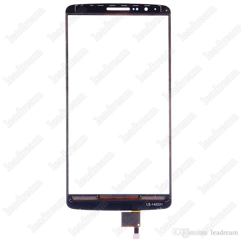 Oem touch screen digitador lente de vidro para lg g3 d850 d855 substituição livre dhl
