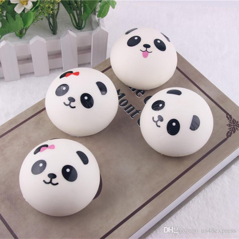 Venta al por mayor caliente Jumbo Panda Squishy Bread Semll Charm Bun correa del teléfono celular colgante muñeca resto llavero para amigo regalo de cumpleaños