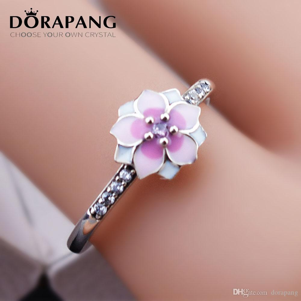 Doropang Authentic 925 Sterling Silver Blooming Dahlia Statement ...