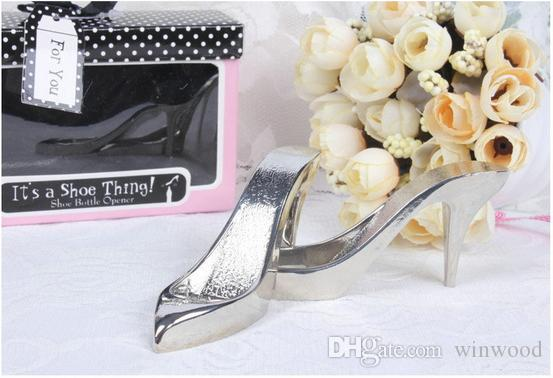 Wedding Bottle Opener Creative Bride High Heel Shoe Design Metal Wine Birthday Bridal Shower Wedding Baptism Party Favor Gift with Box