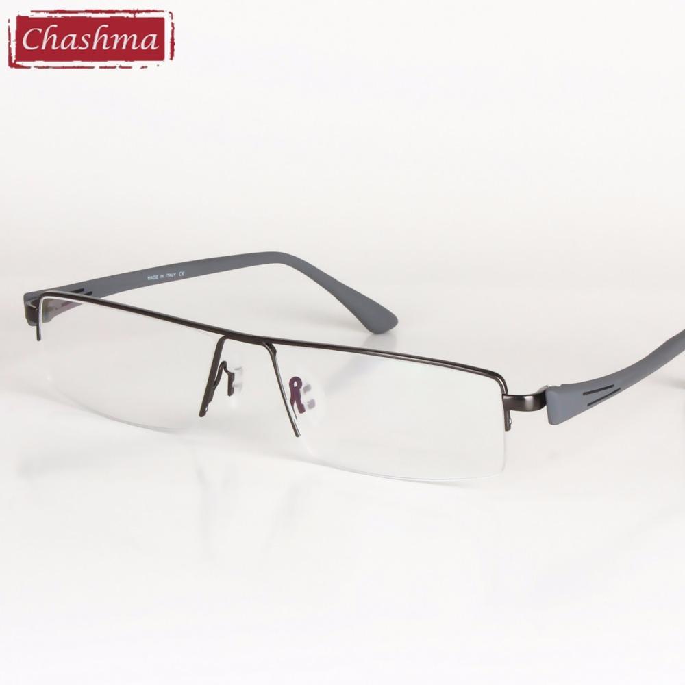 daf02a65c8c9 Wholesale- Big Frame Titanium Alloy Eyeglass Half Rimmed Men Wide ...