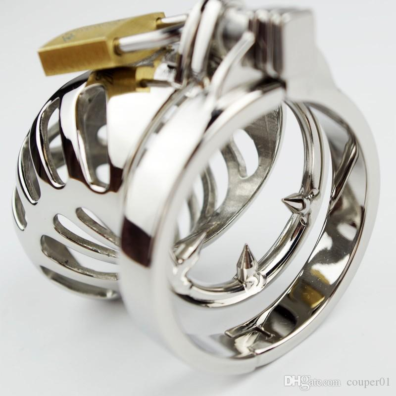 Stainless Steel Male Chastity Device with Anti off Ring,Cock Cage,Penis Ring,Men's Virginity Lock,Adult Game,Cock Ring,CPA196