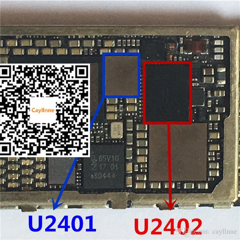 new arrival a5a8b cb2b2 1 par (2 pcs) Original novo touch screen digitador ic branco U2401 preto  U2402 chip para o IPHONE 6 6 6 plus