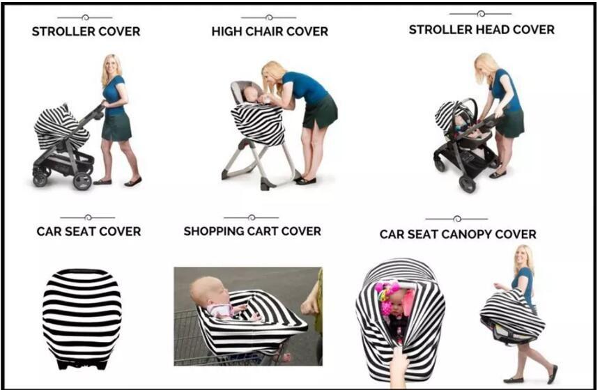 Asiento de auto para bebés Canopy Cover Asiento de lactancia materna Bufanda Cover Up Delantal Carro de compras Cochecito infantil Sleep Buggy Canopy