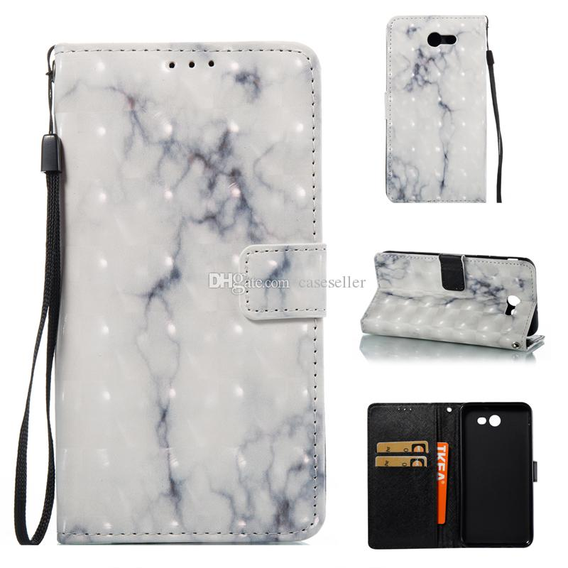 Wallet Leather Phone Case Marble with TPU inner cover for Samsung Galaxy S5 S6 edge A3 A5 2017 J3 J5 J7 2017