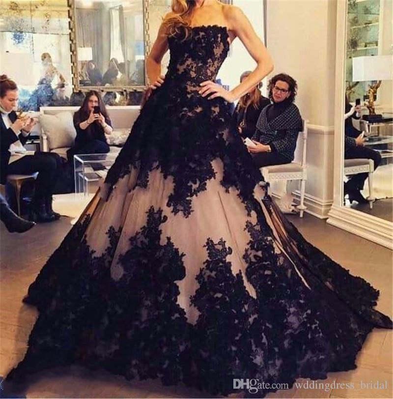 adb690978 Formal Dress Women Vestidos De Noche Largos Elegantes 2019 New Arrivals  Strapless Ball Gown Evening Dresses Long Prom Dress