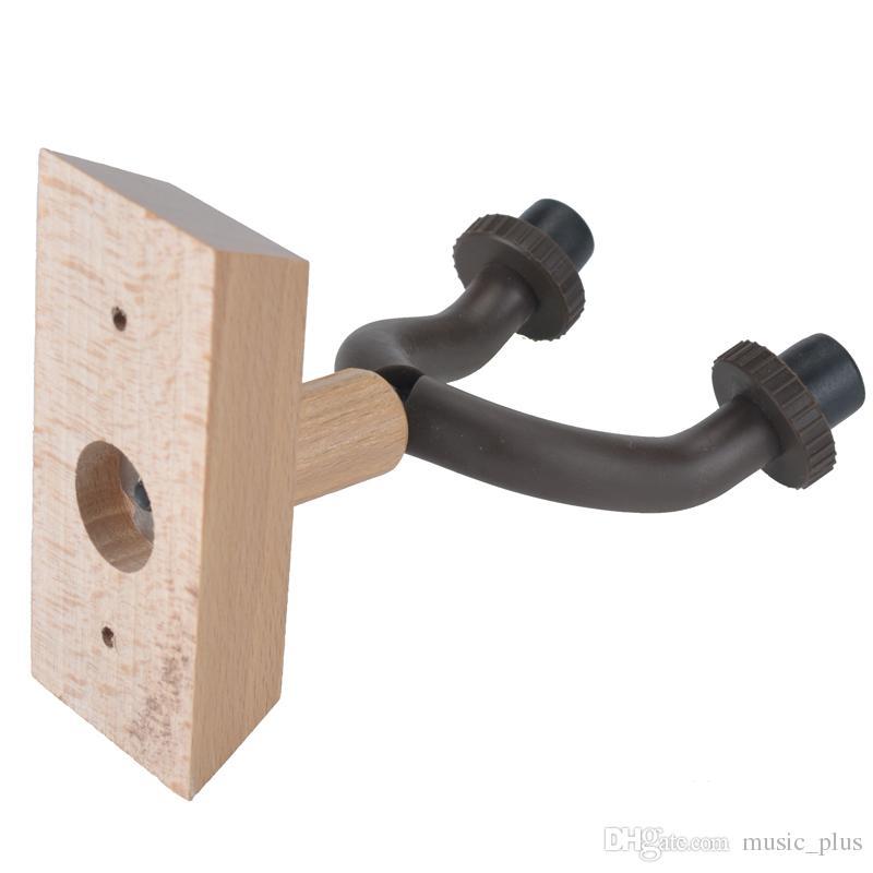 Titular guitarra de madeira guitarra gancho da parede Hooks com base de madeira para casa e estúdio