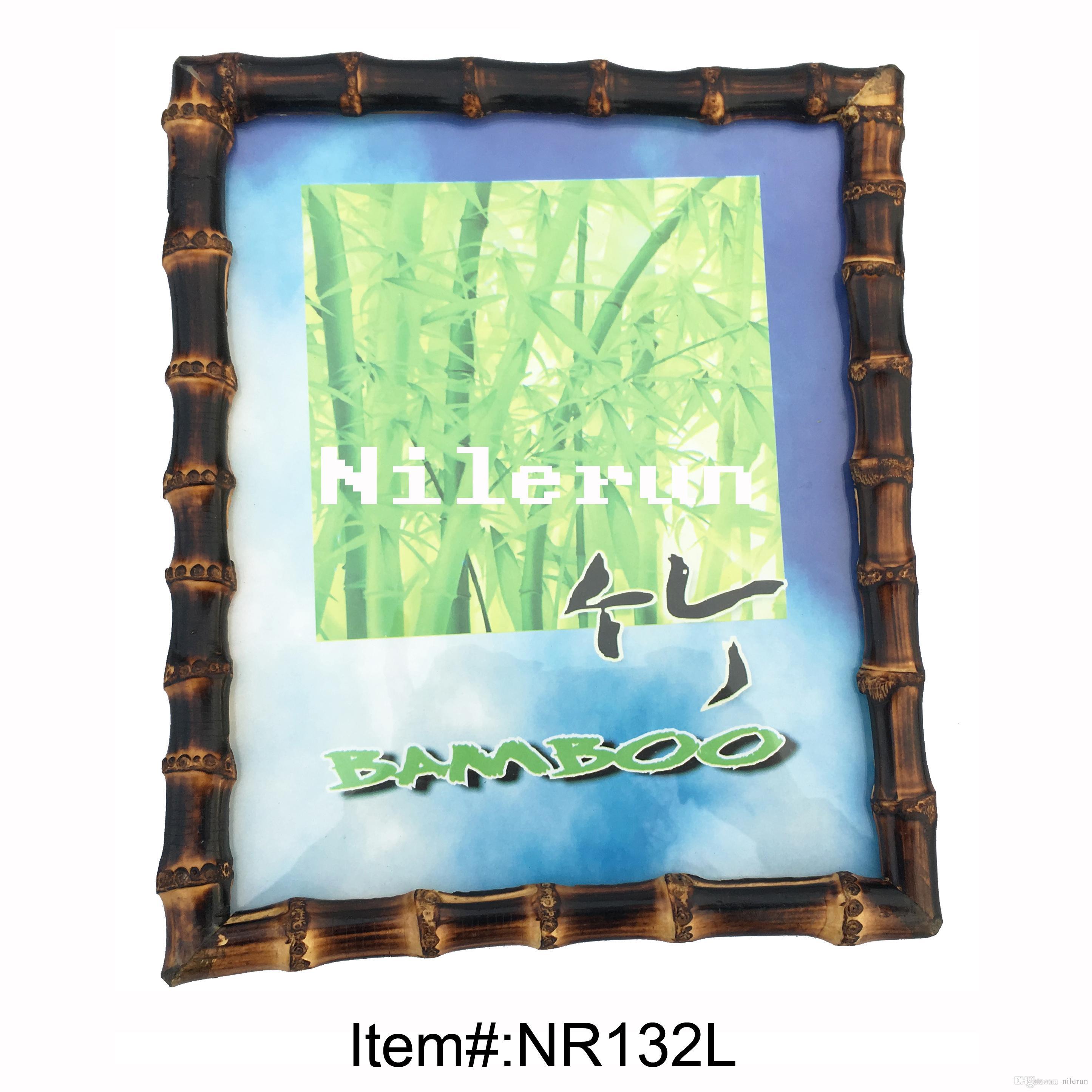 Compre Marco De Fotos De Raíz De Bambú Para 8x10 Pulgadas A $8.55 ...