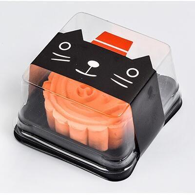 = 6.8 * 6.8 * 4 cm Mini dimensione Scatole di torta di plastica contenitore di plastica contenitore del muffin Contenitore del regalo del regalo dell'imballaggio delle materie prime
