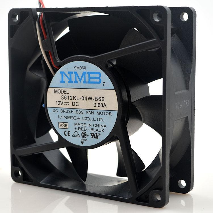 MNB 3612KL-04W-B66 DC 12 V 0.68A 9 CM 9038 9238 termistör soğutma fanı ile büyük hava hacmi
