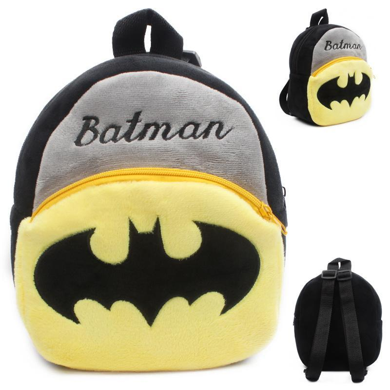 d8f6152e01 Children S Cartoon Plush Backpack Batman Mini Bag Baby Cute Bat Man Backpack  Small Schoolbag Students Bookbag Kids Gift Cheap Plush Toys Stuffed Toys  Online ...