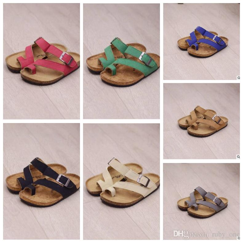 145b2f9926c Kids Sandles Flip-flops Sandals Beach Antiskid Slippers PU Leather Slipper  Buckle Sandals Unisex Boys Sandals KKA1625
