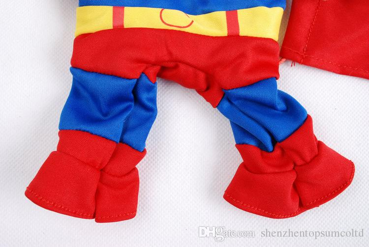 Pet Cat Dog Superman Costume Suit Puppy Dog Clothes Outfit Superhero Apparel Clothing for Dogs Autumn/Winter
