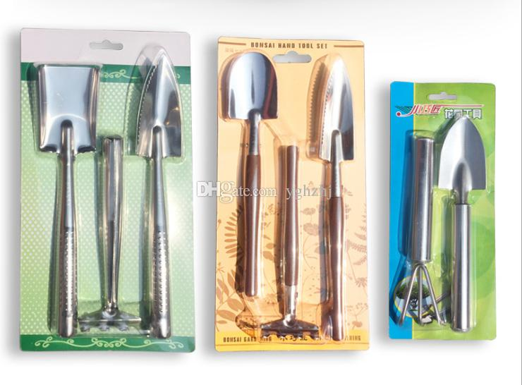 Wholesale gardening tools, stainless steel three-piece, plant potted flower variety of gardening tools,spade, shovel,