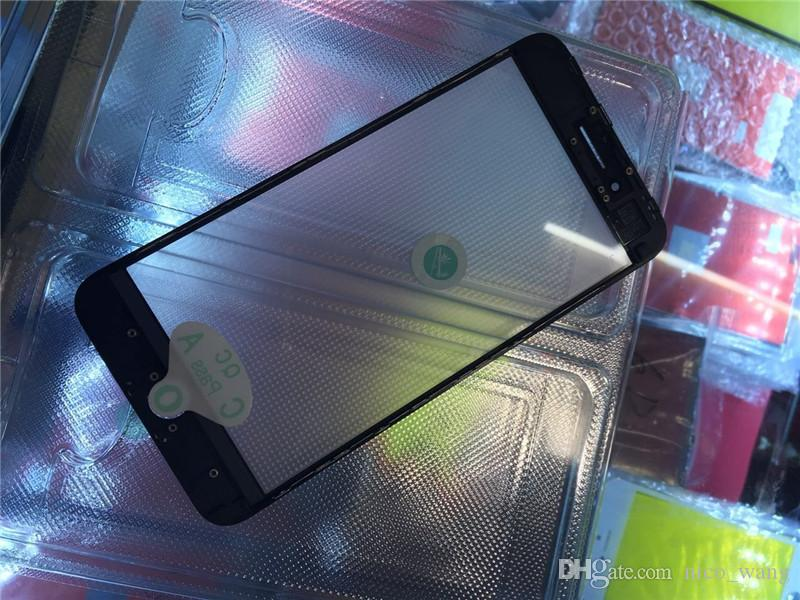 Top Quality 3 in 1 New Screen Outer Glass Lens with Frame+OCA Replacement For iPhone 8&8 Plus Front Glass Repair Parts