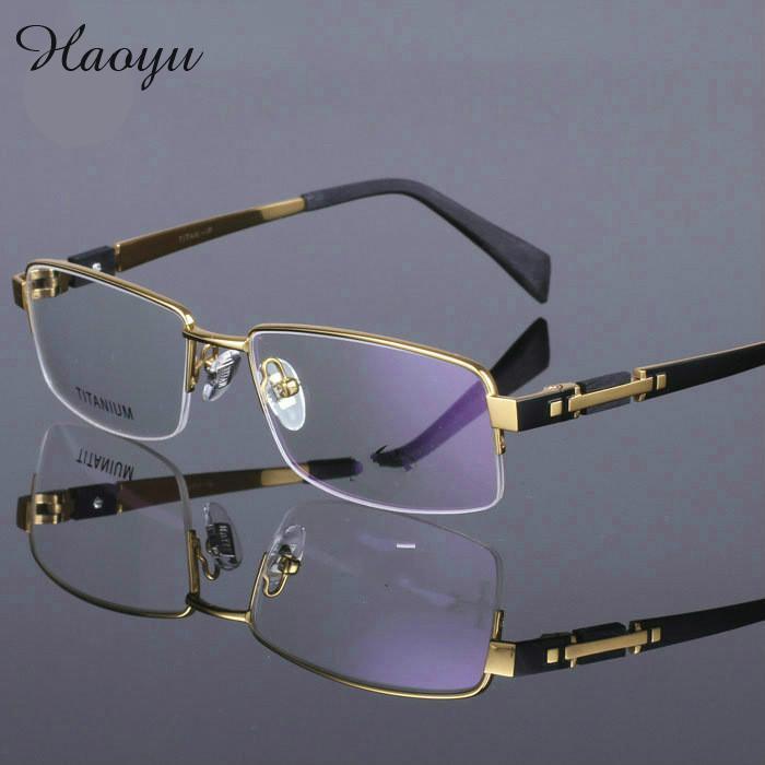 Großhandel Großhandels Haoyu Original Brand Plate Gold Brillen Hohe ...
