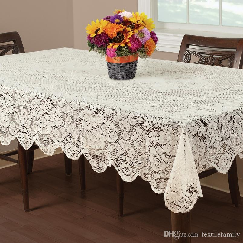 Extra Large Round Table Cloth.On Sale Free Shipping Floral Elegant Lace Tablecloths Round Lace Table Cover White Or Ivory Decoration For Table Hot Deisng