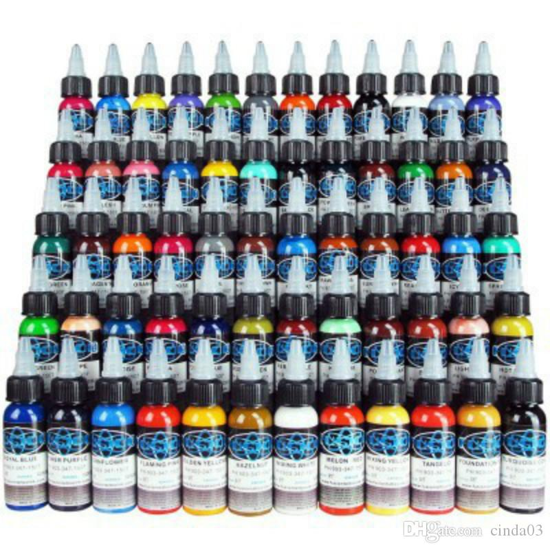 New Tattoo Ink Fusion 60 Colors Set 1 oz 30ml/Bottle Tattoo Pigment Kit  TI601-30-60 Free Shipping