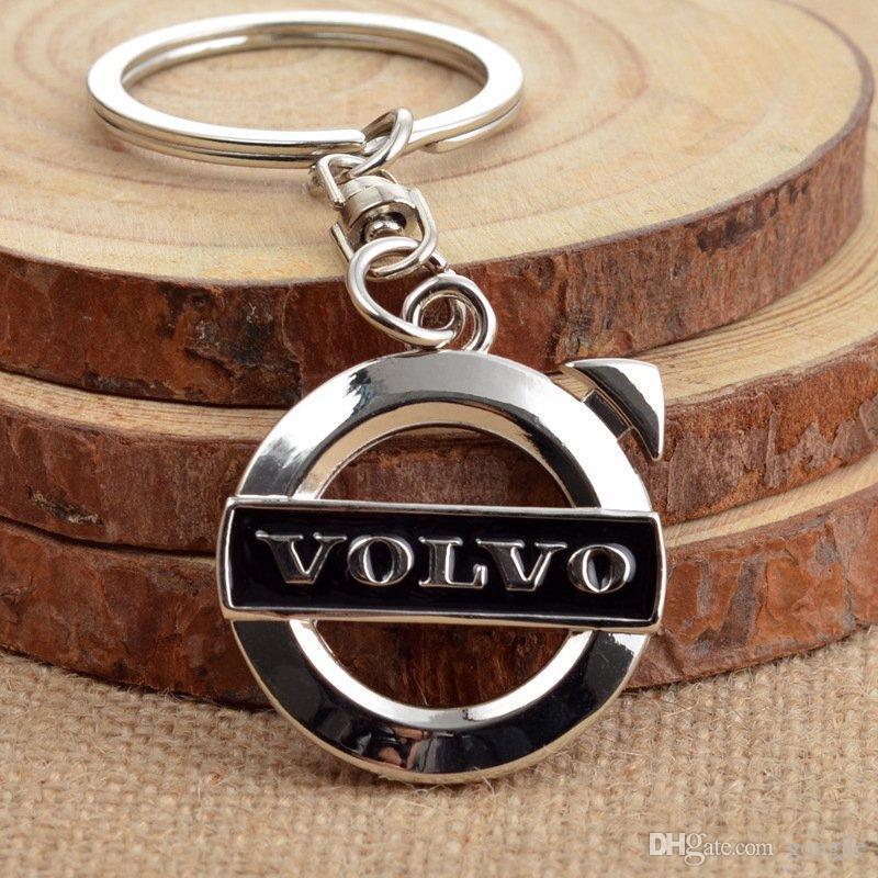 Großhandel 3D Metall Auto Logo Emblem schlüsselanhänger Ringschlüssel Halter Für VOLVO V40 V60 S60 LXC60 XC90 Fans Geschenk