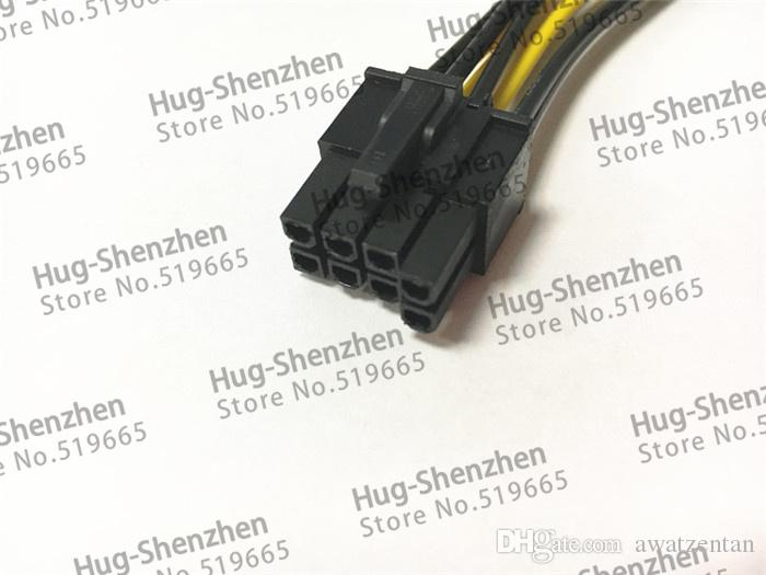 dual 15pin SATA male to 8pin6+2 PCI-E Power Supply Cable 20cm SATA Cable 15-pin to 8 pin cable
