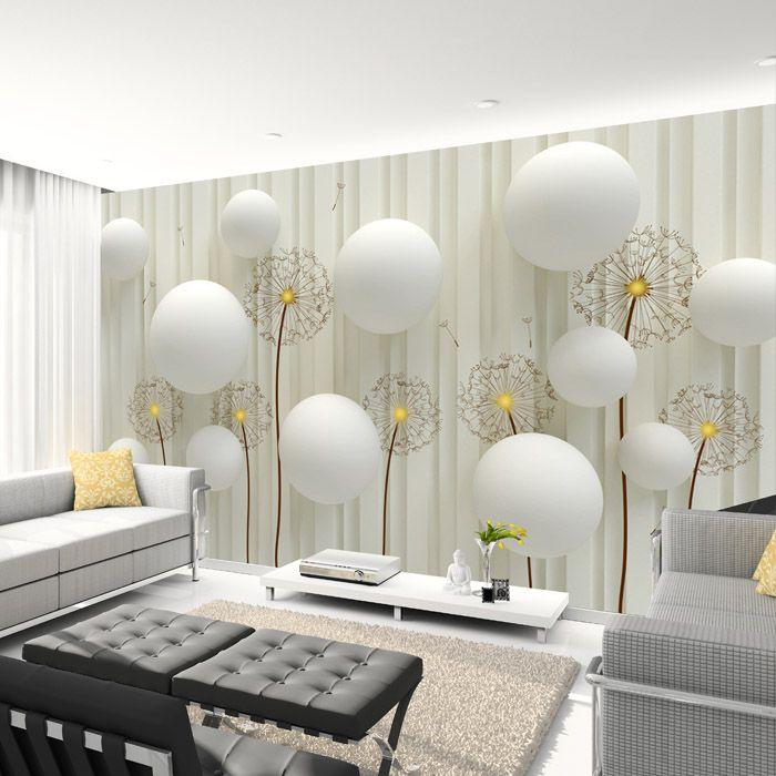 grosshandel lowenzahn mit romantischen 3d ball foto tapete wohnzimmer tv wandtapete 3d hintergrund tapete wand wandbild tapeten von fumei150716