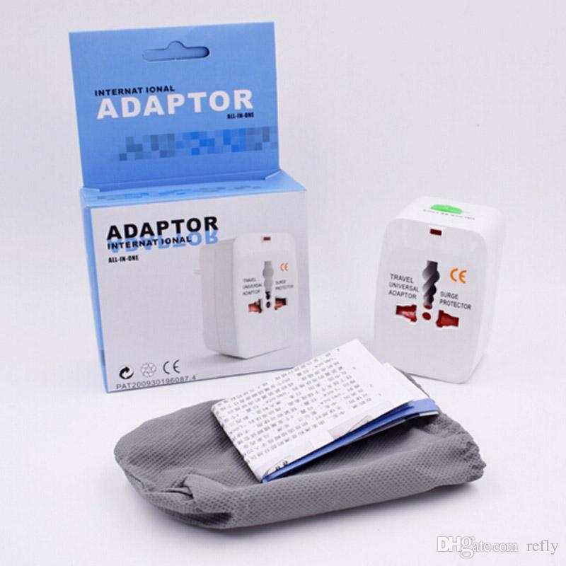 All in One Universal International Plug Adaptor World Travel AC Power Charger Adapter with AU US UK EU converter Plug Top Quality