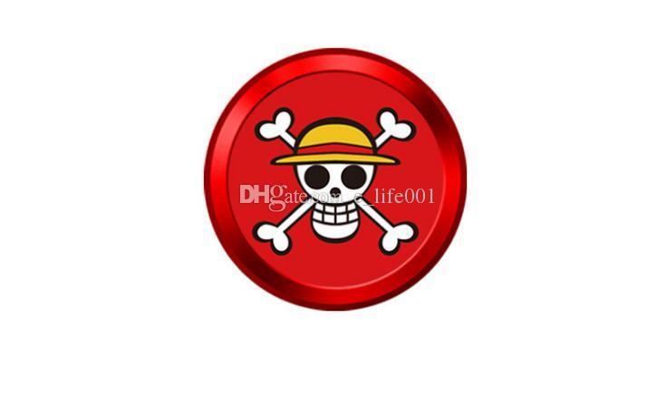 Nueva etiqueta engomada del botón de la identificación del tacto del aluminio del metal de la historieta para el iPhone universal 5 5S 5C SE 6 6S más con la función de la identificación de la huella dactilar