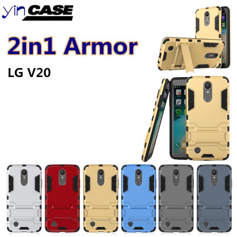 quality design 62a5b ae775 Rugged Armor PC Back Case For LG LGV20 LGSTYLUS2 LGLV1 LGV20MINI LGLV5  LGLV3 LG-G6 LG-stylo 3 With Holder Kickstand Hybrid Hard Shell Cover