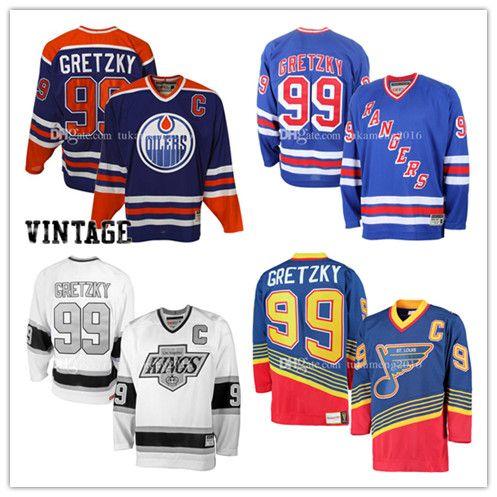 ... 99 Wayne Gretzky Edmonton Oilers Hockey Jersey St. Louis Blues Los  Angeles Kings New York ... d4461bd6d
