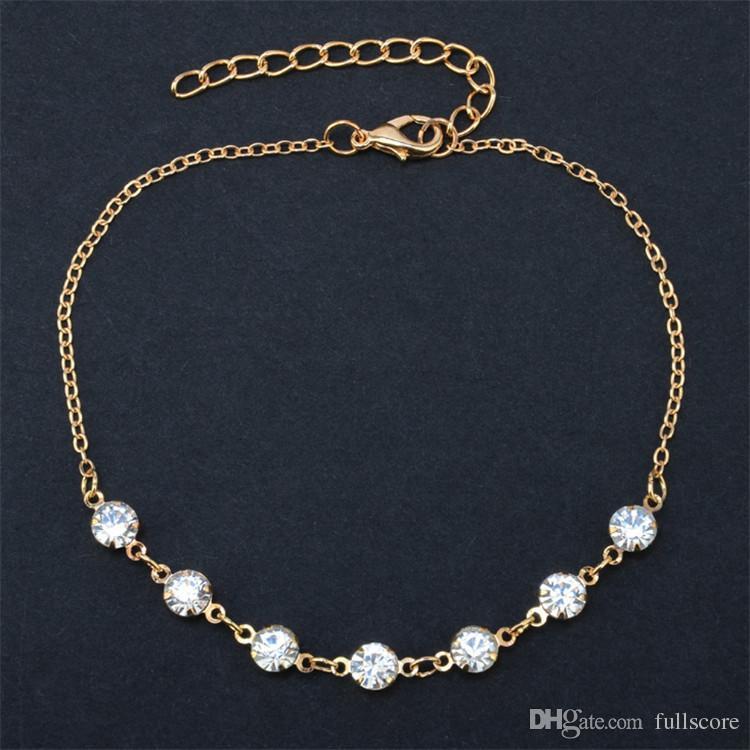 Cavigliere di cristallo d'imitazione della perla d'annata di modo le donne Gioielli d'argento del piede del braccialetto a catena della catena della scarpa dell'acciaio inossidabile 2017 Sexy Beach
